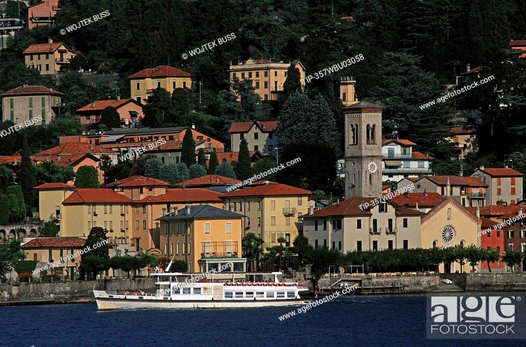 Stock Photo: Italy, Lombardy, Lake Como, Torno.