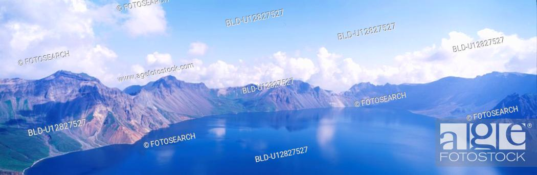 Stock Photo: baekdusan, panorama, scene, landscape, nature, baekdu mountain, panoramic view.