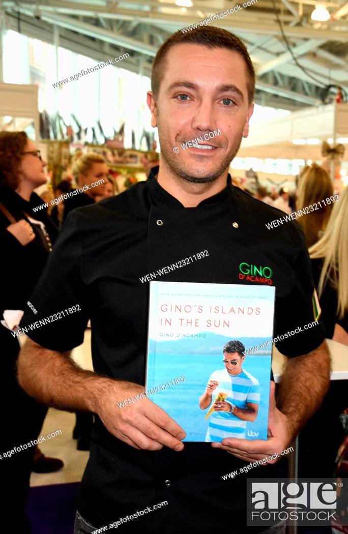 ideal home show at christmas at olympia london featuring gino d