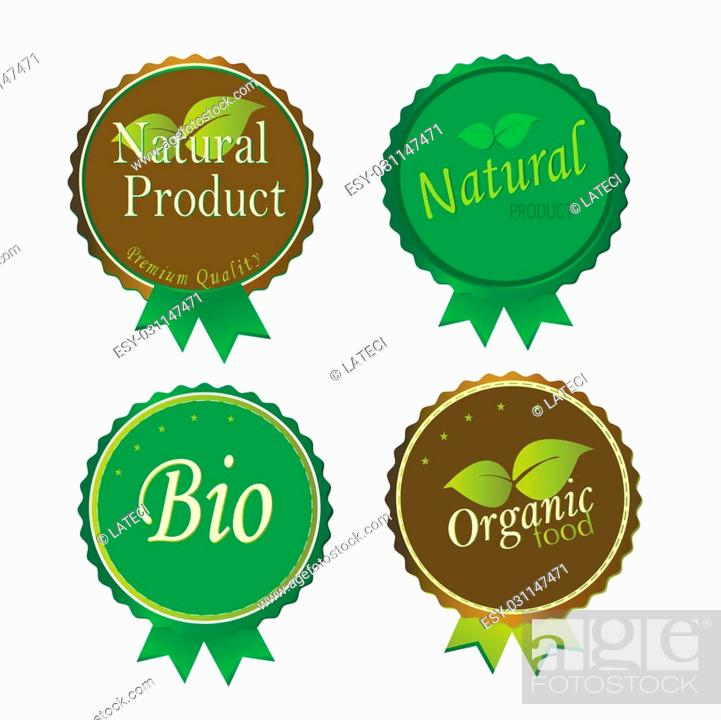 Stock Vector: Set of Fresh Organic Labels and Elements.