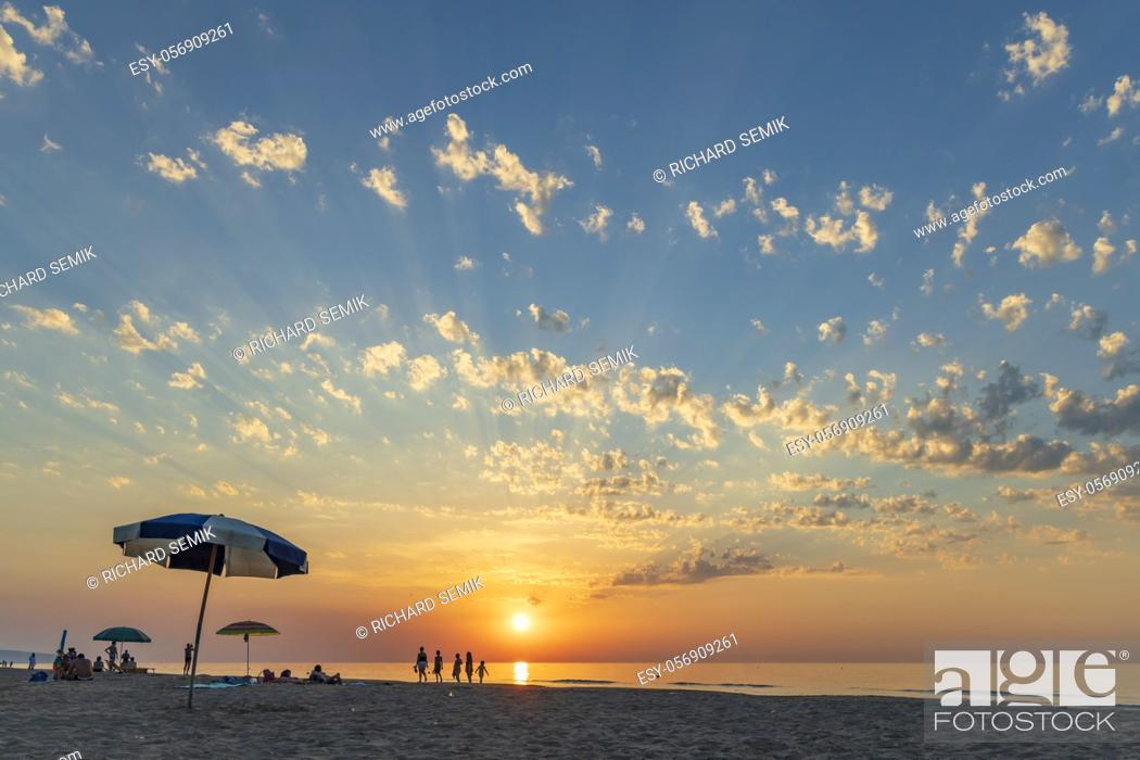 Stock Photo: Sunset in Rodi Garganico, National park Gargano, Apulia, Italy.