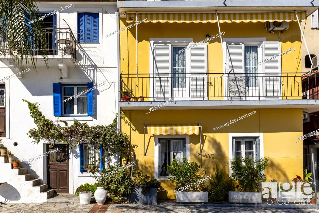 Stock Photo: Colourful Houses In The Town Of Parga, Preveza Region, Greece.