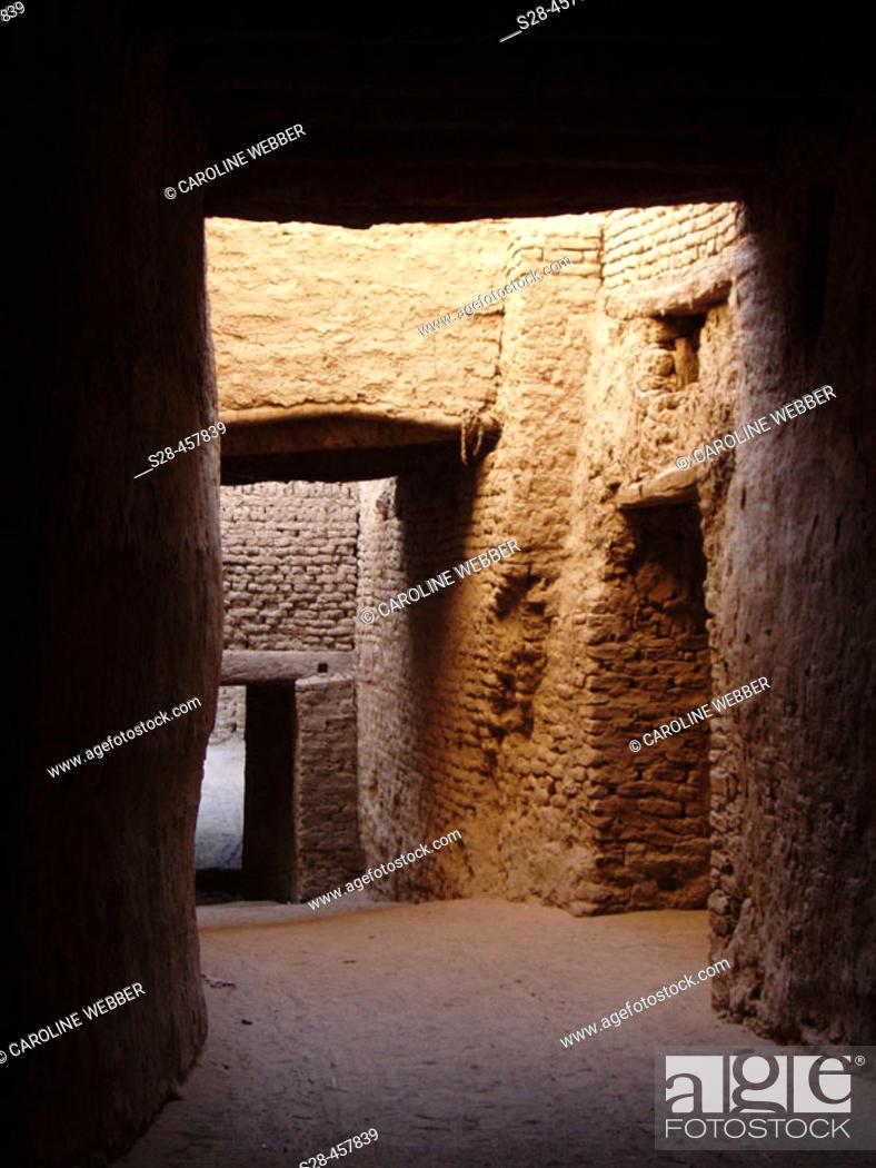 Stock Photo: Hallway at Al-Qasr, Egypt.