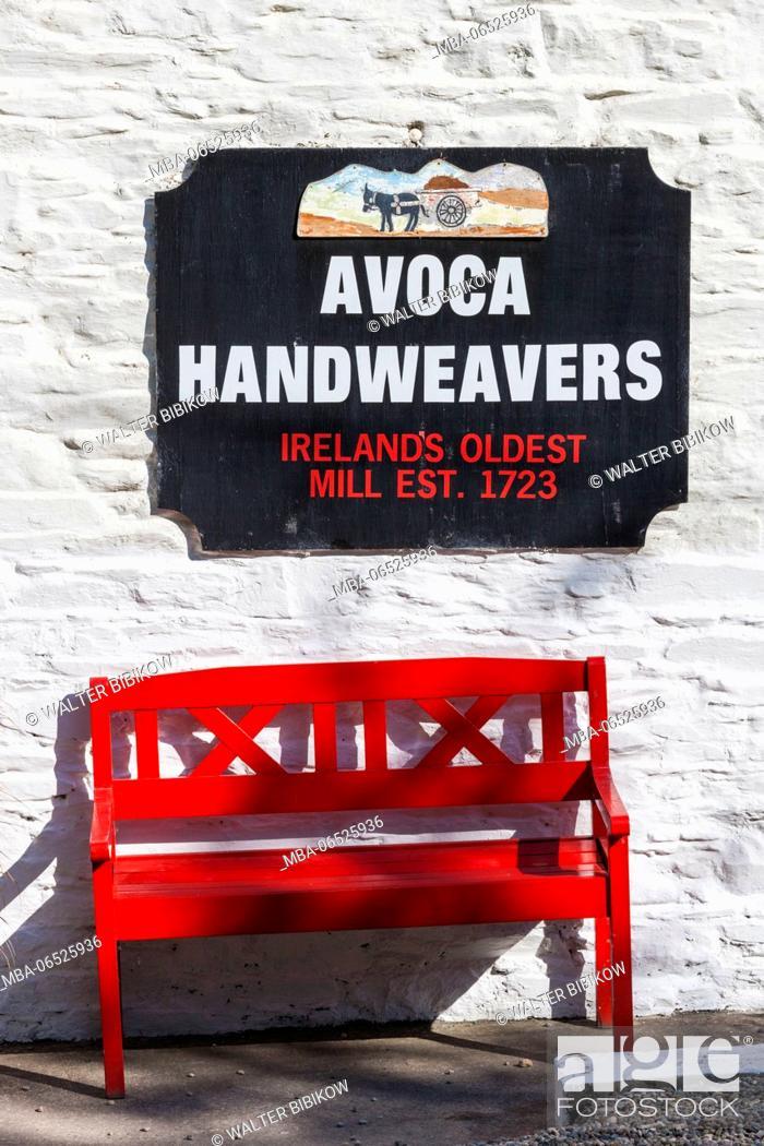 Stock Photo: Ireland, County Wicklow, Avoca, Avoca Handweavers, weavers housed in Ireland's oldest working mill, since 1723.
