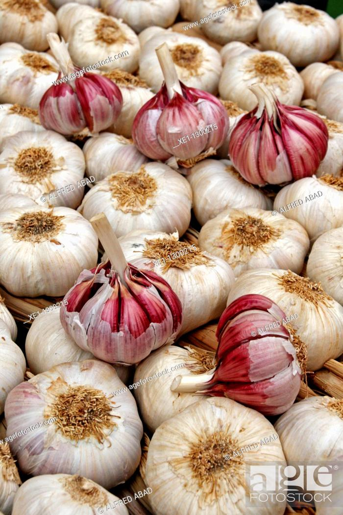 Stock Photo: Garlic, food.