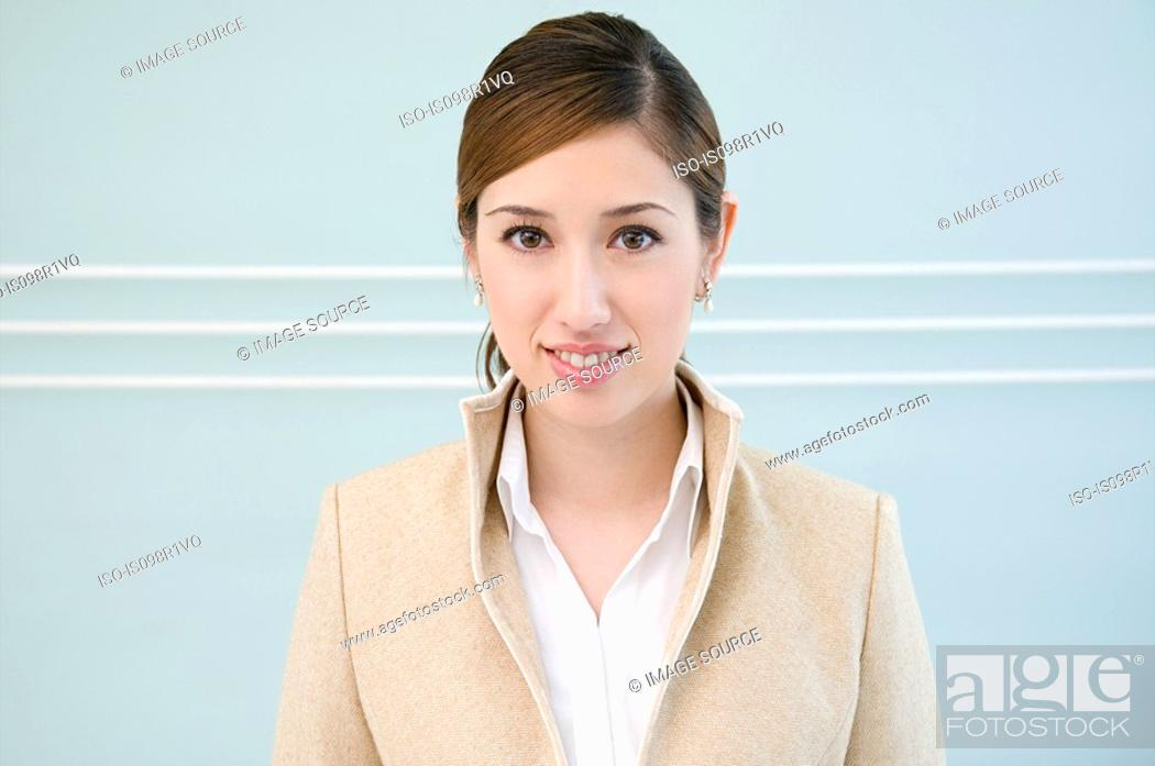 Stock Photo: Portrait of a businesswoman.