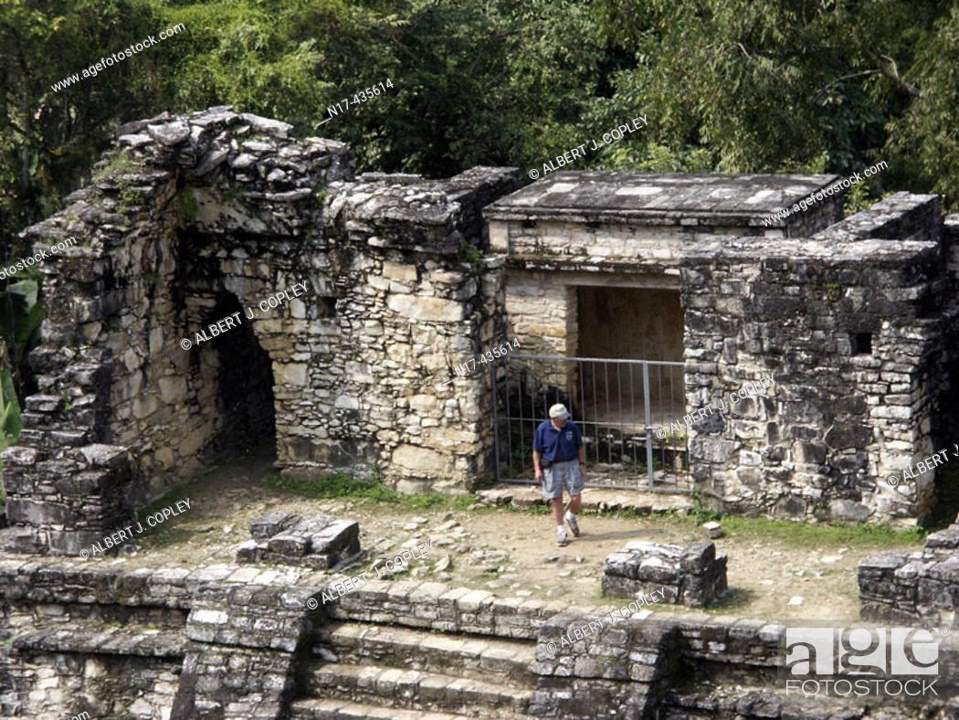 Stock Photo: Palenque, Maya archeological site (600 - 800 A.D.). Chiapas, Mexico.