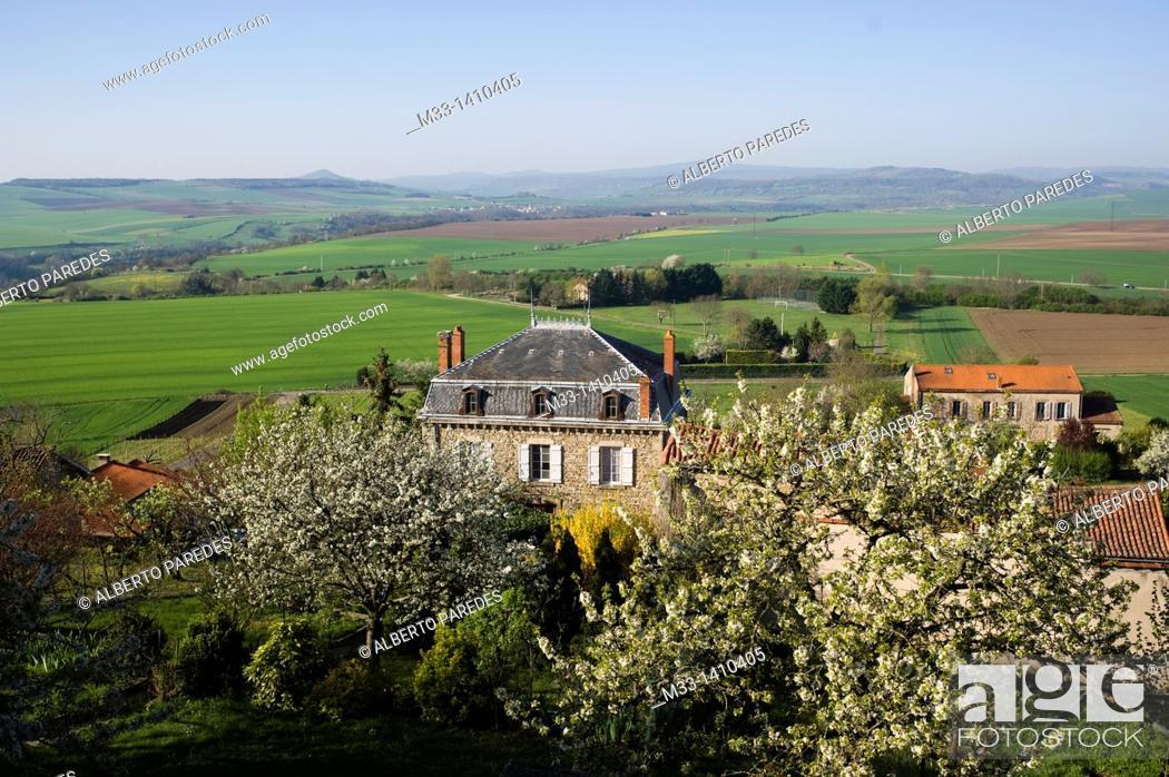 Stock Photo: Montpeyroux village  Auvergne region, France.