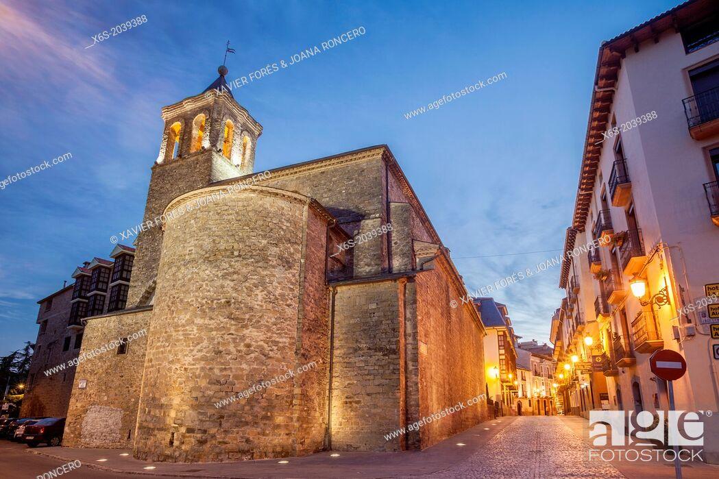 Stock Photo: Church of San Salvador and San Gines in Jaca, Huesca, Spain.