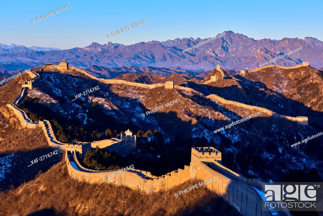Photo de stock: China, Hebei province, Great Wall of China, Jinshanling and Simatai section, Unesco World Heritage.