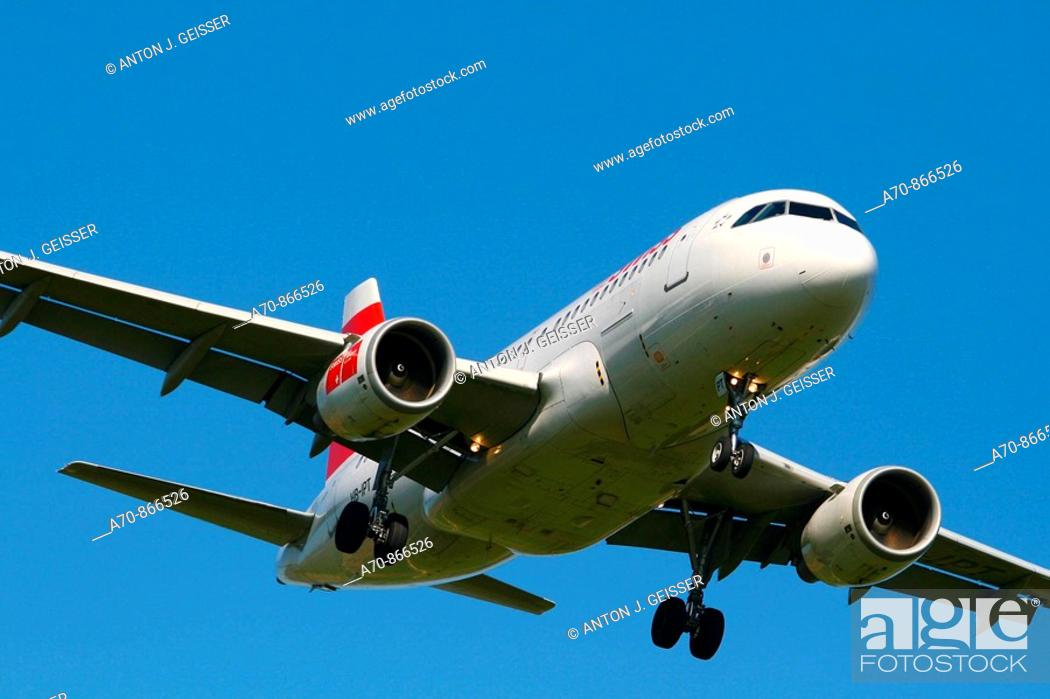 Stock Photo: Swiss - airbus A 320.