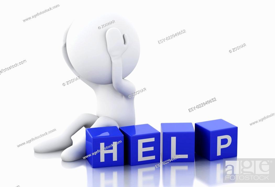 Imagen: 3d white people need help.