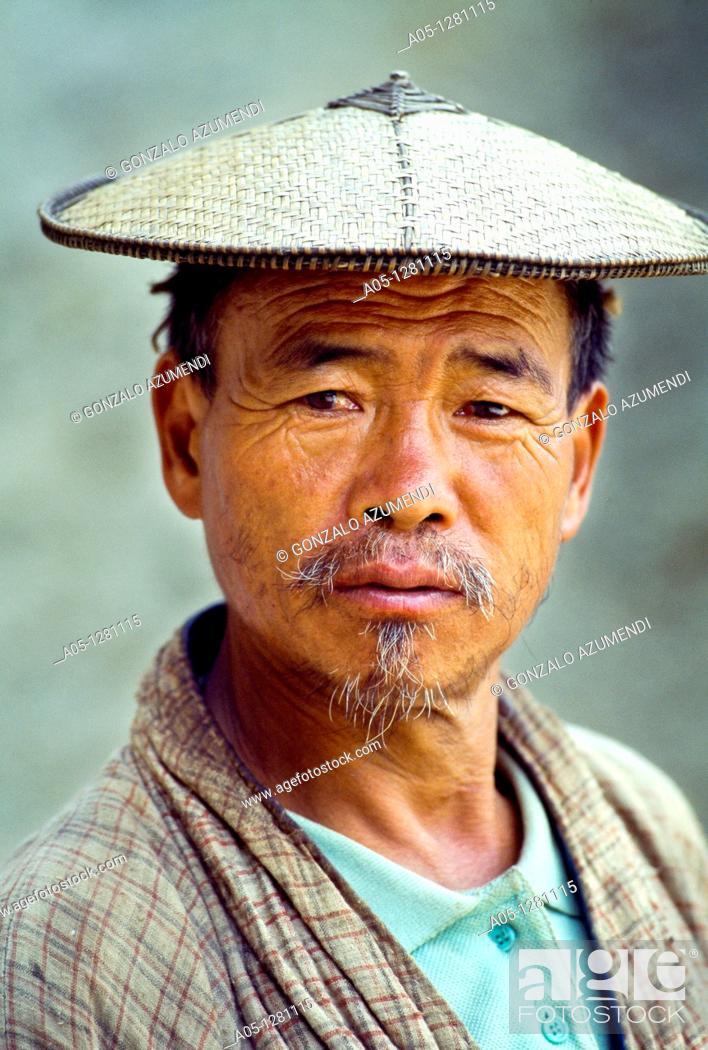 Stock Photo: Portrait  Buthan  Butan.
