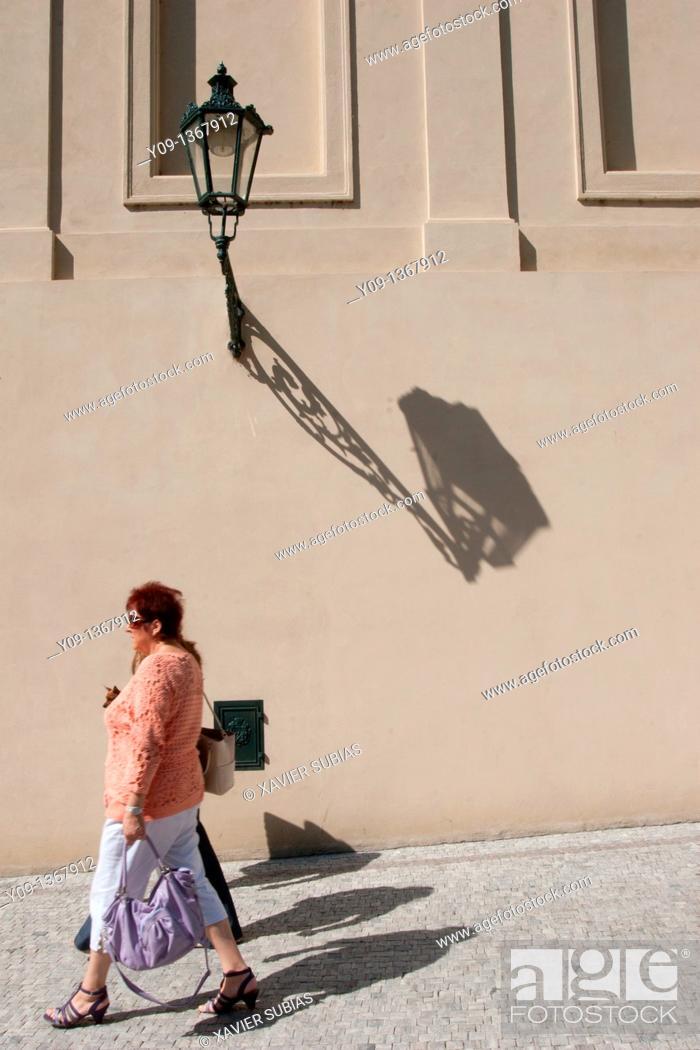 Stock Photo: Street lamp, Prague, Czech Republic.