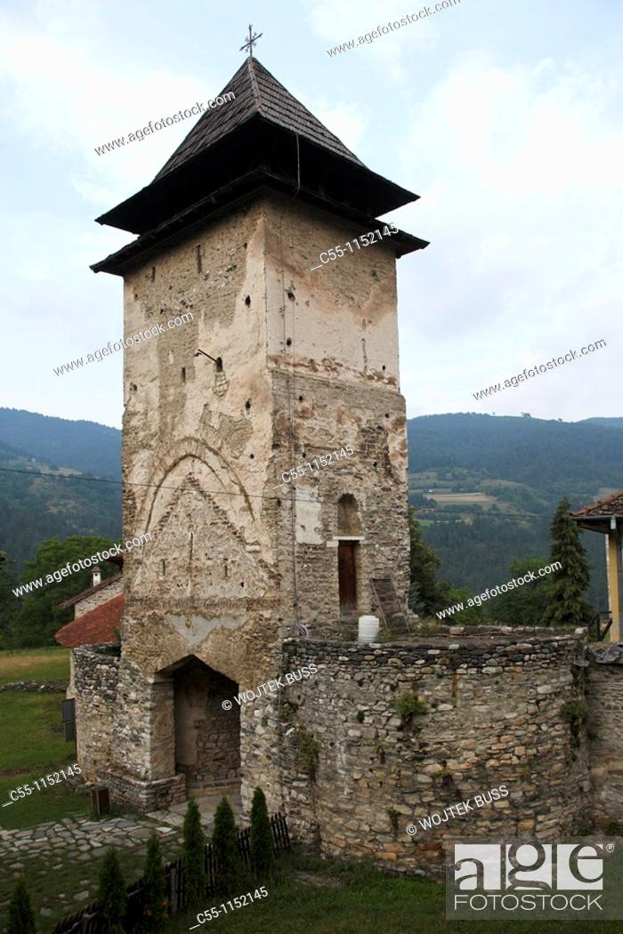 Stock Photo: Serbia, Studenica Monastery, founded by Grand Prince Stefan Nemanja, late 12th century, Western Gate, Orthodox, christian, religious, exterior, outside, facade.