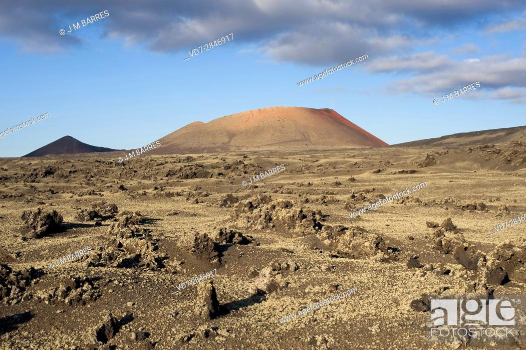 Stock Photo: Los Volcanes Natural Park, Lanzarote Island, Las Palmas, Canary Islands, Spain.