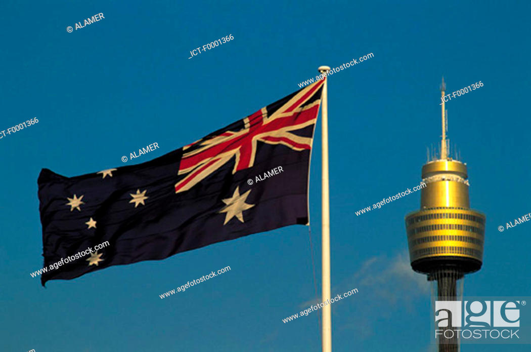 Stock Photo: Australia, flags in Sydney.