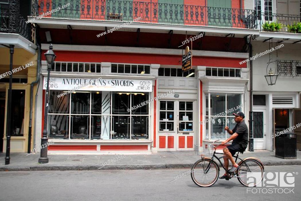 Stock Photo: Royal Street, French Quarter, New Orleans, Louisiana, USA.