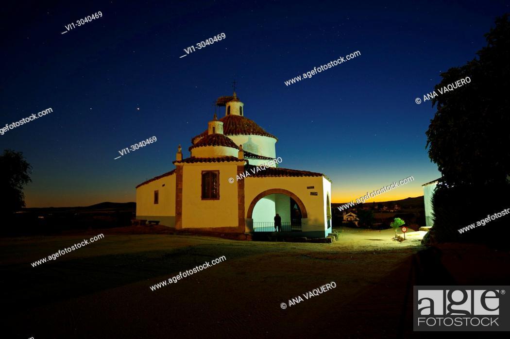Stock Photo: Hermitage of San Bartolomé, Miajadas, Cáceres, Estremadura.