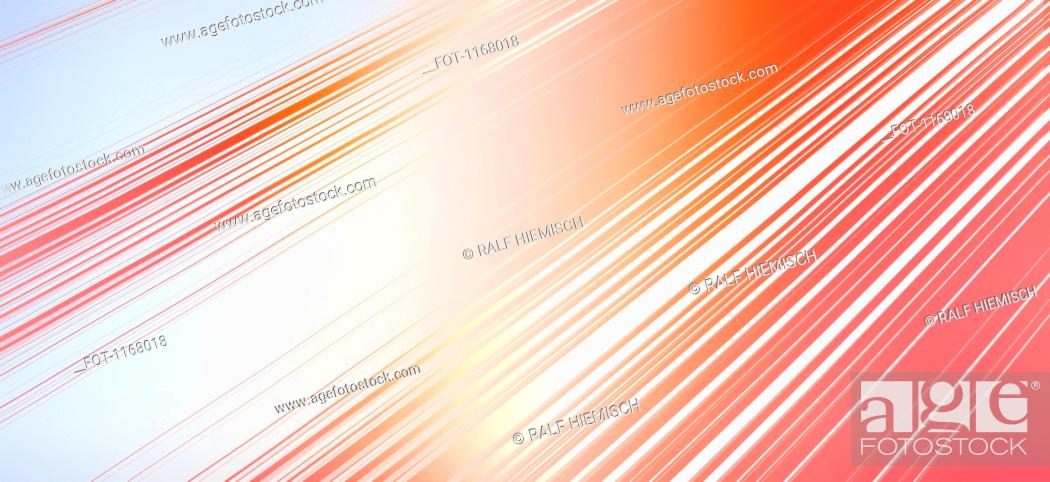 Stock Photo: Diagonal lines and colored light.