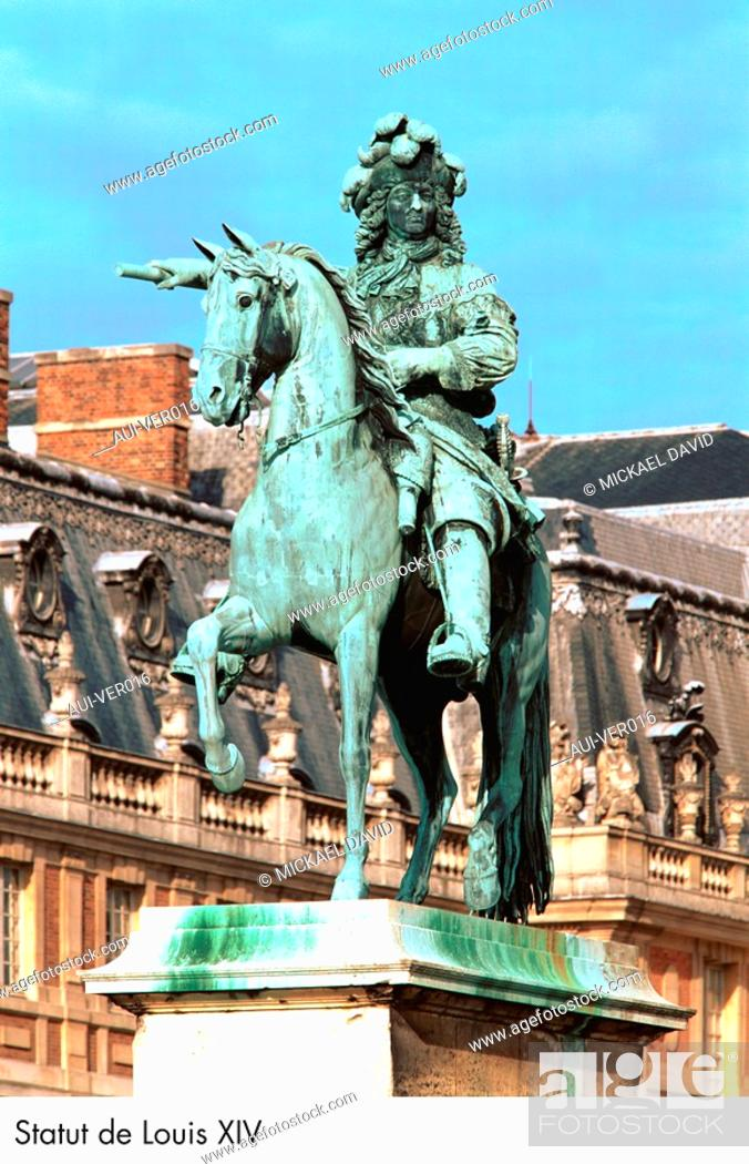 Stock Photo: Palace of Versailles - Statue of Louis XIV.