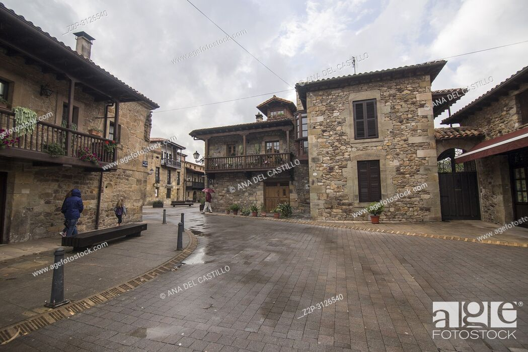 Stock Photo: Palaces in Lierganes village Pasiegos valley Cantabria Spain.