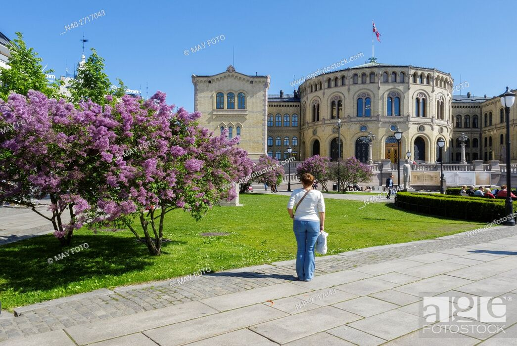 Stock Photo: Parliament, Oslo, Norway.