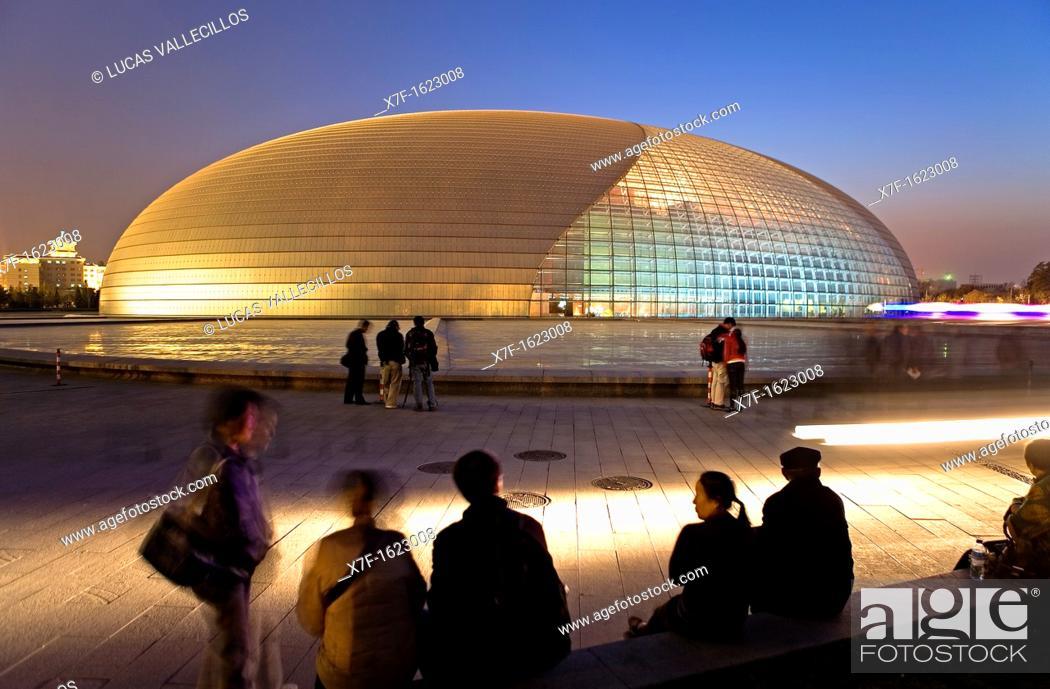 Stock Photo: National Opera House building Paul Andreu architect,Beijing, China.