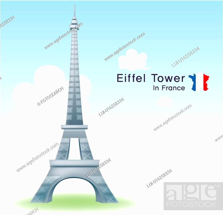Stock Photo: tourist attractions, tourism, sightseeing, national flag, map, Europe, travel.