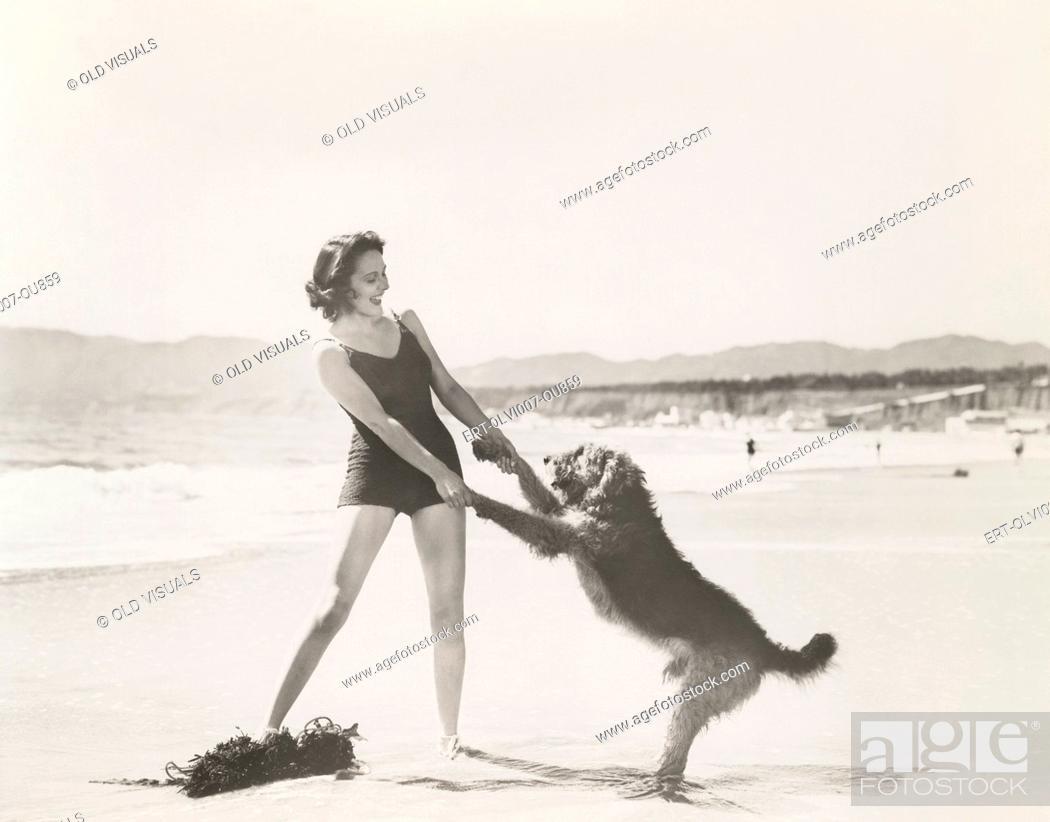 Imagen: Frolicking on the beach (OLVI007-OU859-F).
