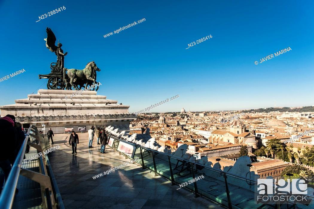 Stock Photo: Altar della Patria, Rome, Italy.