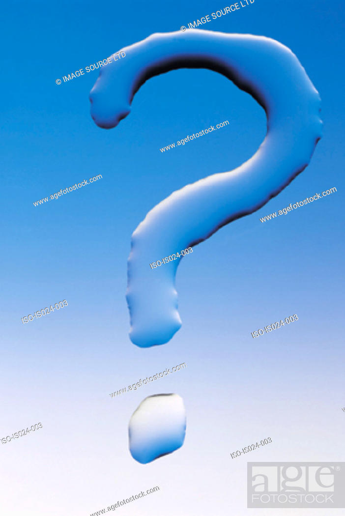 Stock Photo: Question mark.