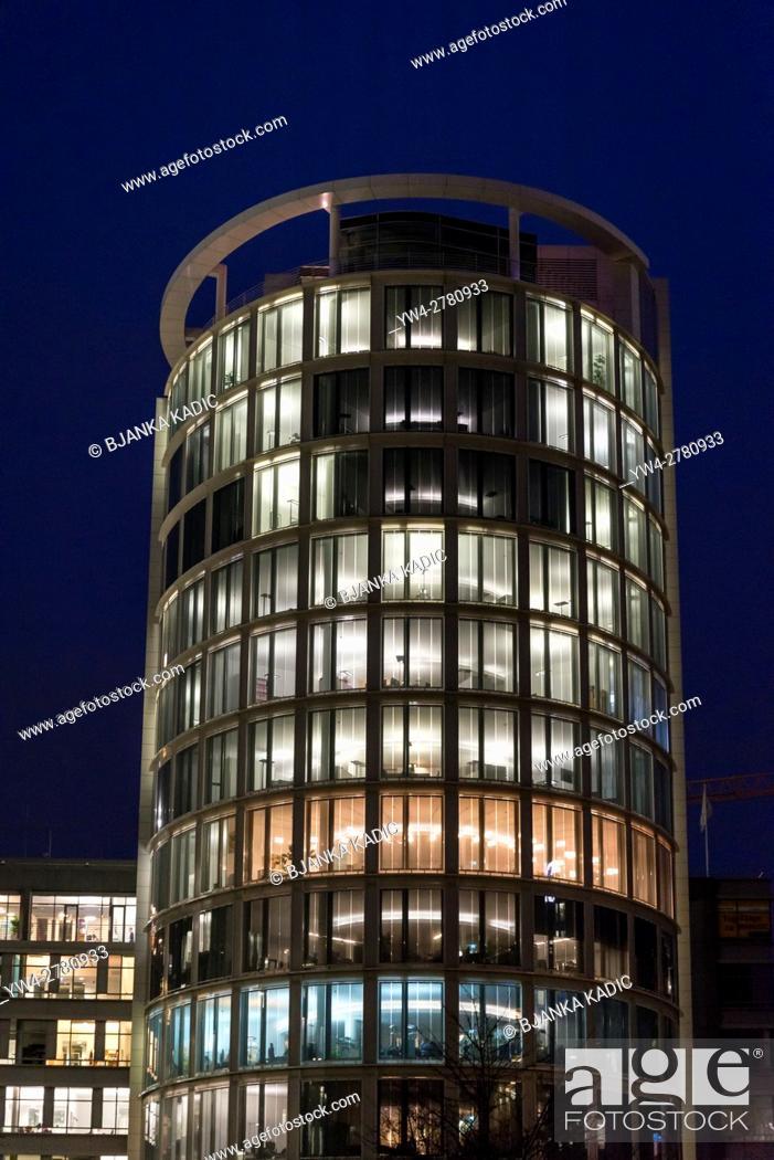Stock Photo: Modern office architecture in HafenCity, Hamburg, Germany.
