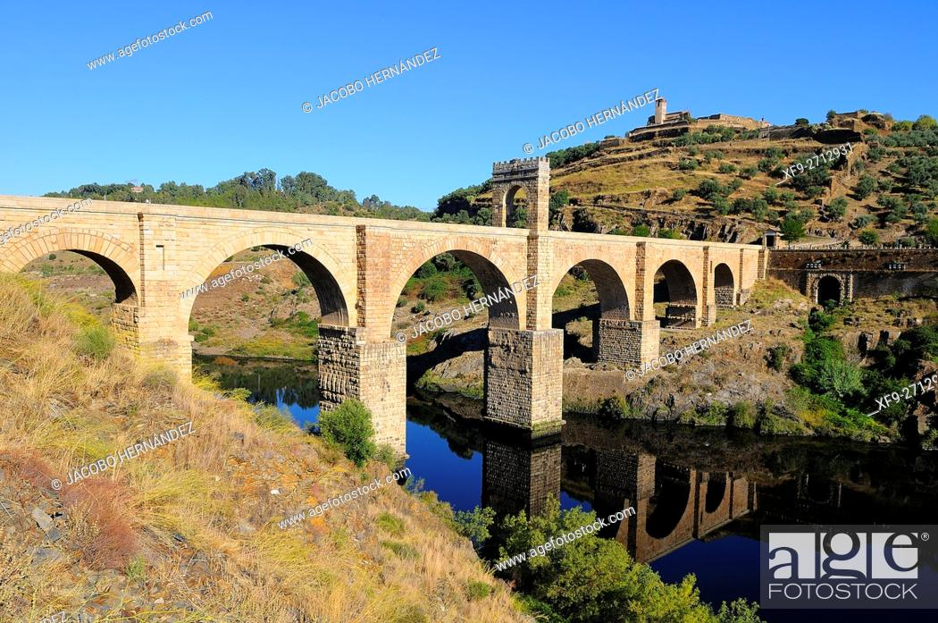 Stock Photo: Roman bridge of Alcantara.Cáceres province.Extremadura.Spain.