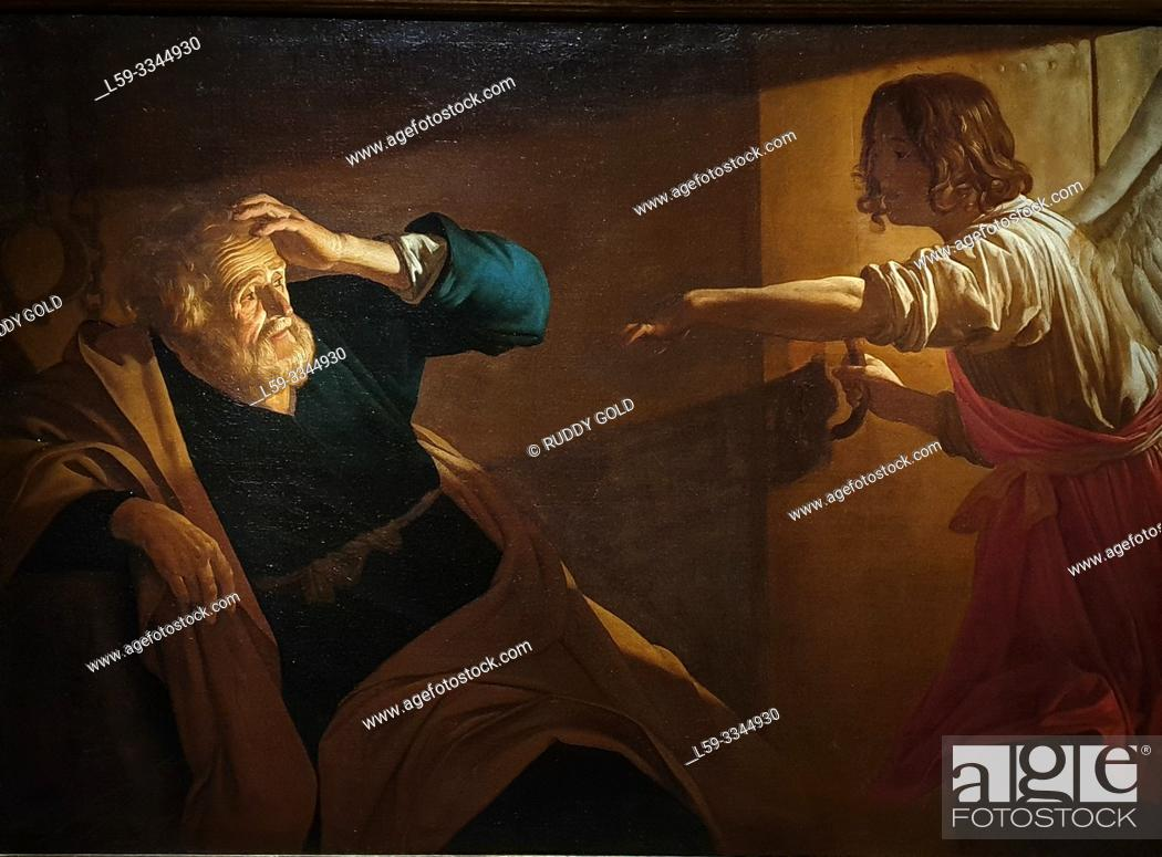 Stock Photo: 'St Peter Released from Prison', 1616/18, Gerard van Honthorst (1592-1656).