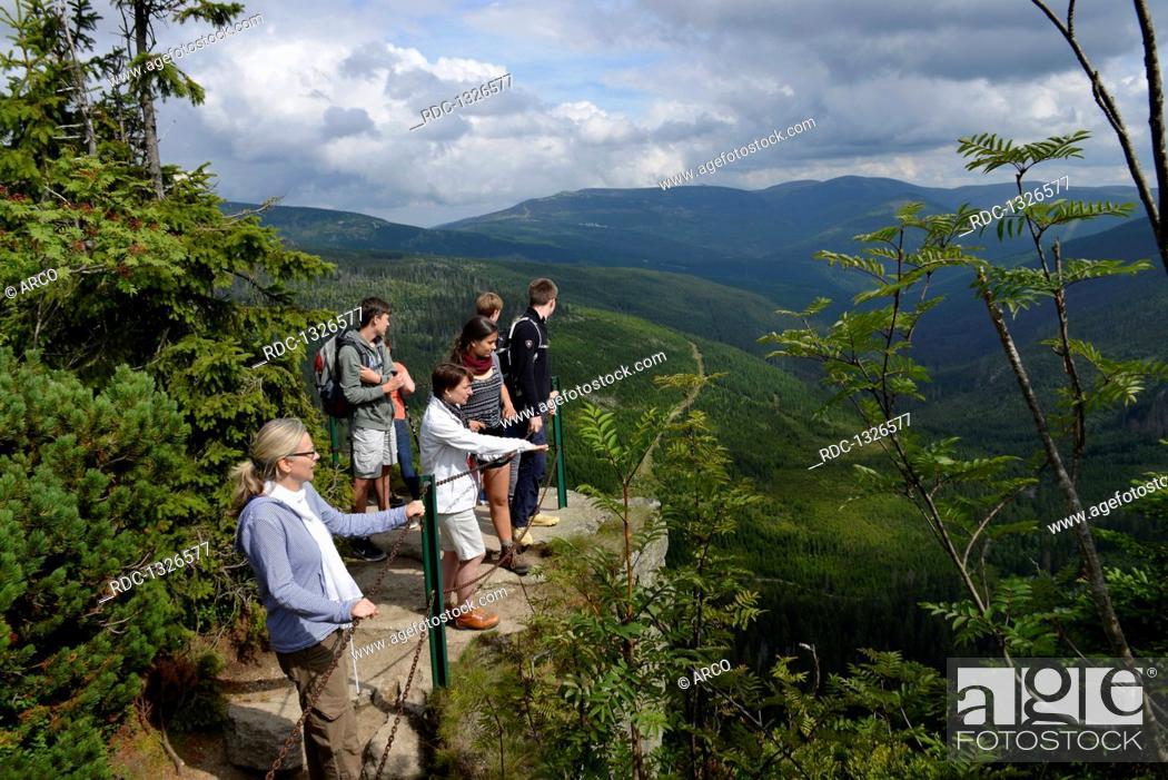 Photo de stock: Aussicht, Oberes Elbtal, Riesengebirge, Tschechien.