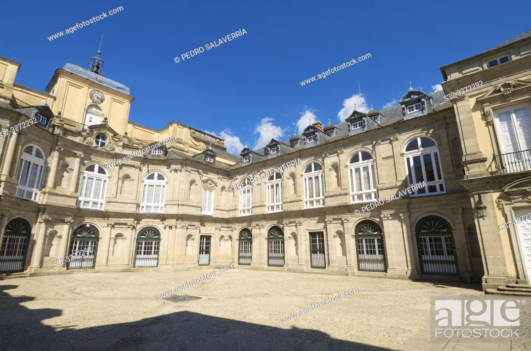Stock Photo: Granja de San Ildefonso Palace, Segovia, Castilla Leon, Spain.
