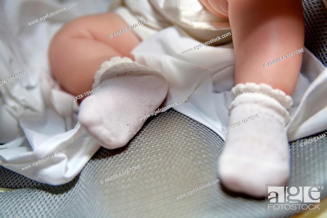 Stock Photo: Baby feet.