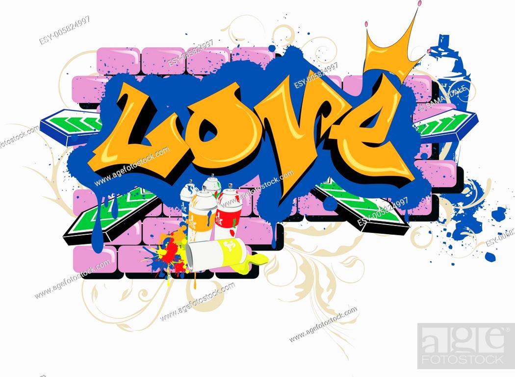 Vecteur de stock: love graffiti.
