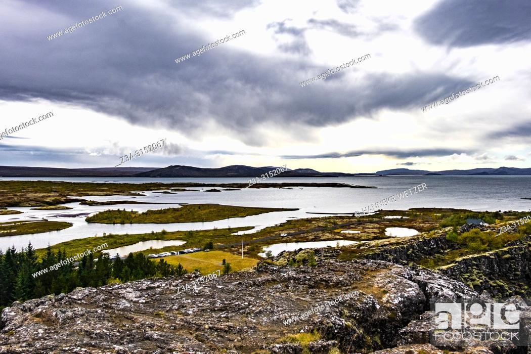 Stock Photo: Nature of Þingvellir National Park, Southwest Iceland.