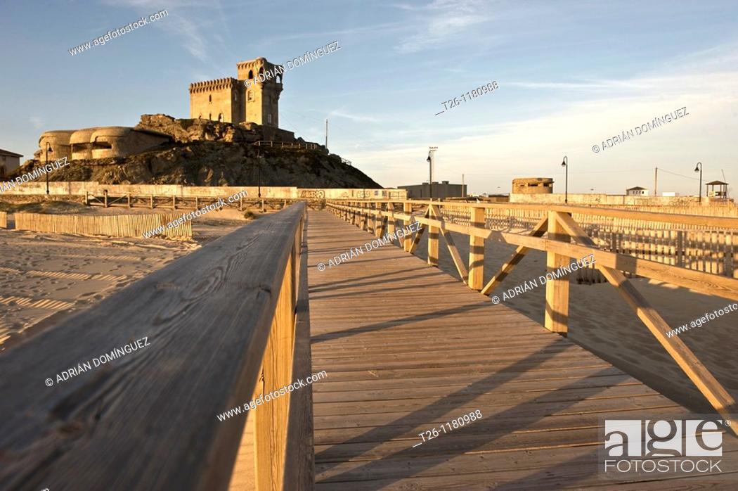 Stock Photo: Castle in Tarifa. Cadiz, Spain.