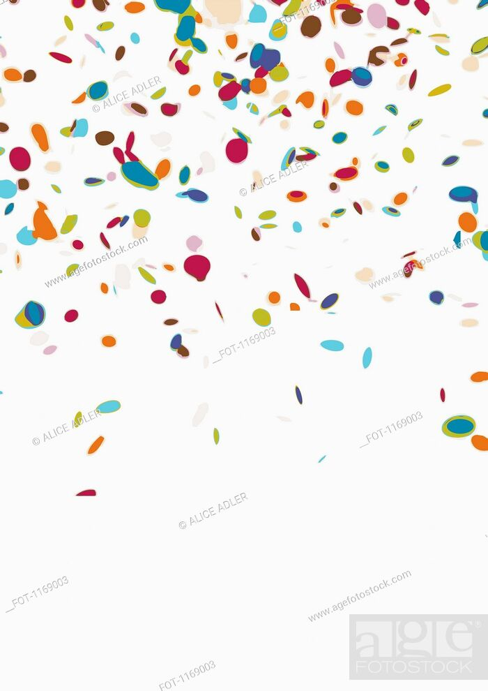 Stock Photo: Confetti on a white background.