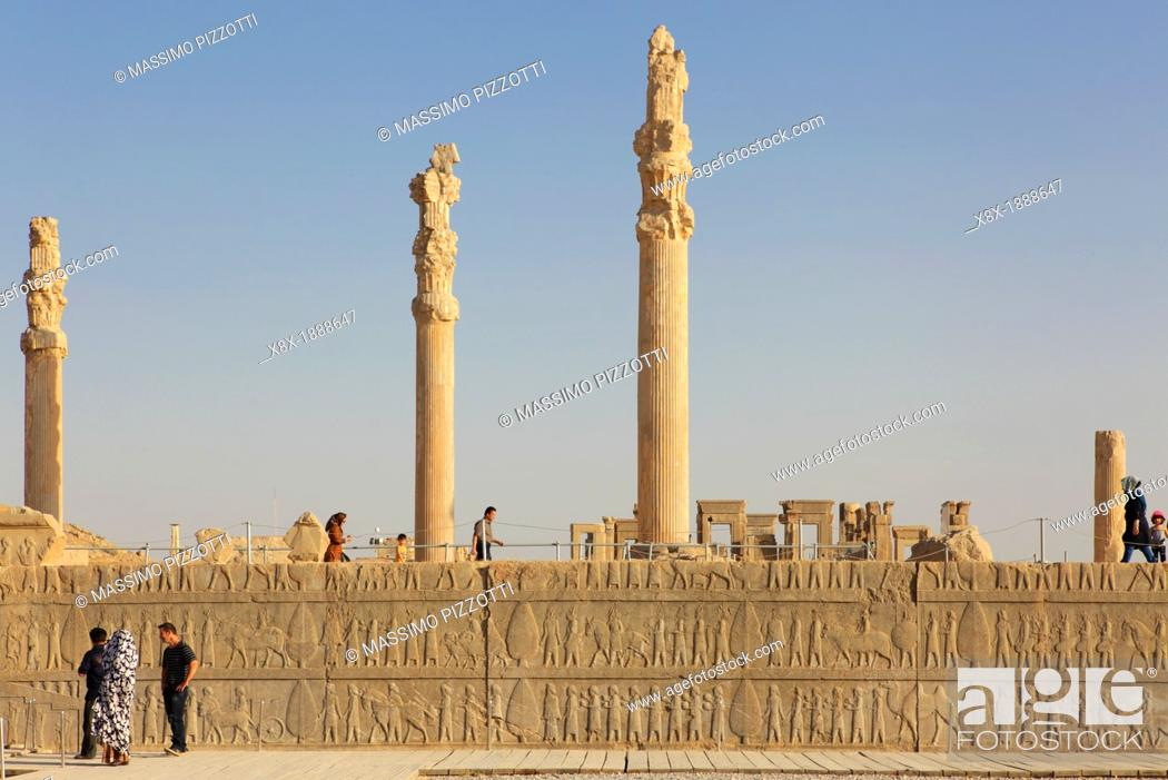 Remains Of The Great Palace Of Xerxes Persepolis Iran Stock Photo Picture And Rights Managed Image Pic X8x 1888647 Agefotostock