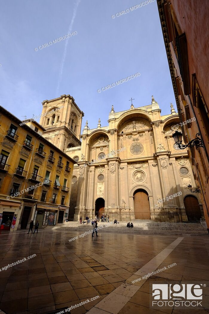 Stock Photo: The Cathedral of Granada, Andalusia, Spain.