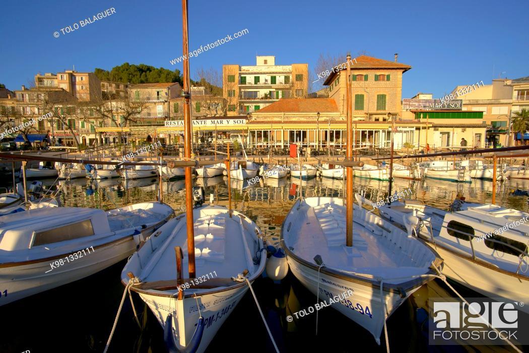 Stock Photo: Port de Soller Mallorca Tramuntana Spain Balearic islands.