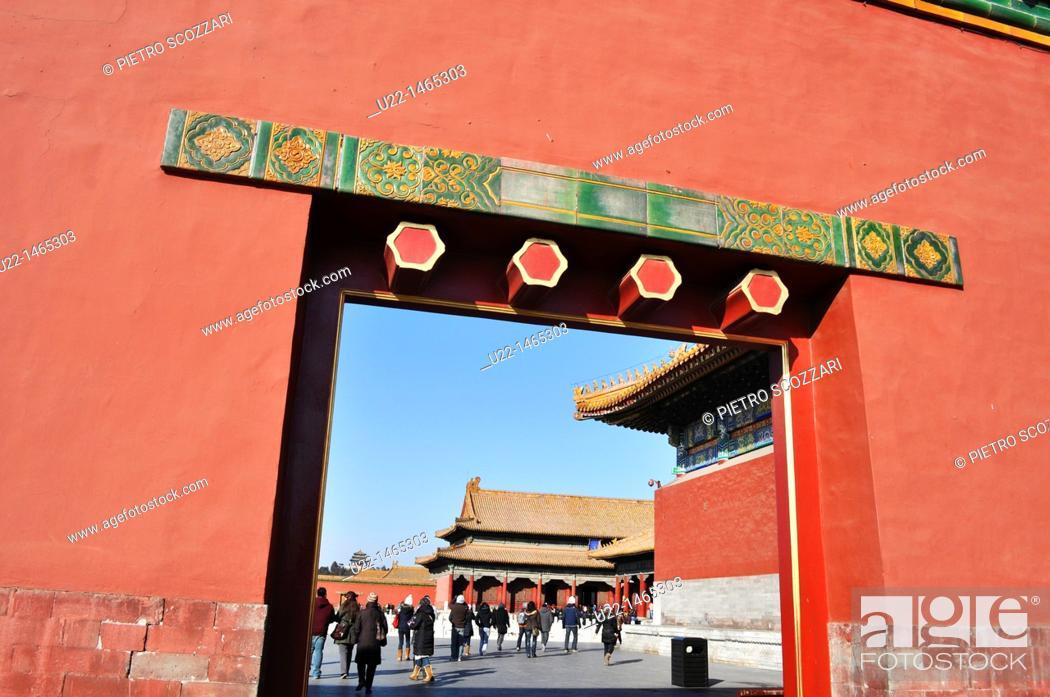 Stock Photo: Beijing (China): the Forbidden City.