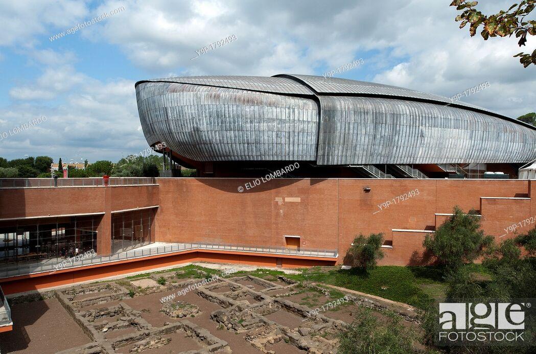 Stock Photo: Auditorium Parco della Musica, designed by architect Renzo Piano  Rome, Italy, Europe.
