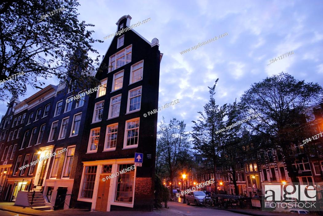 Stock Photo: Buildings in Singel area, Amsterdam, Northern Holland, Holland.