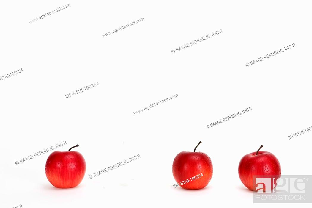 Stock Photo: apples and A.
