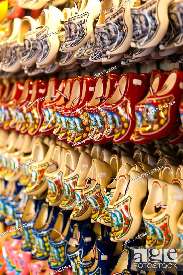 Traditional Dutch Wooden Shoes Wooden Clogs Amsterdam Holland